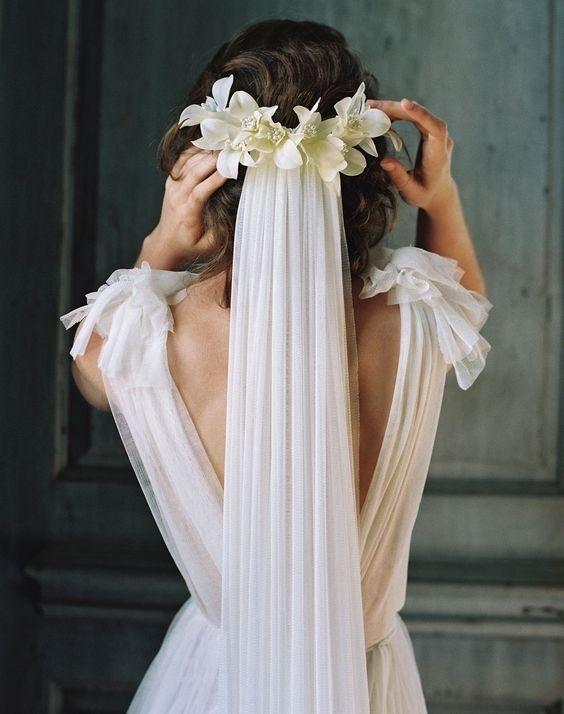 Фата для платьев различных силуэтов